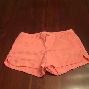 Lilly Pulitzer dark peach shorts